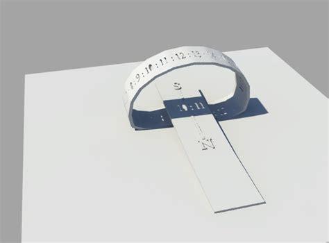 printable sun clock 3d print model portable sun clock cgtrader