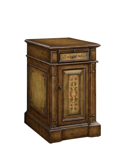 Chairside Table With Drawer by Powell Masterpiece Chairside Table With Pull Out Tray Drawer And Door 310 219 Homelement