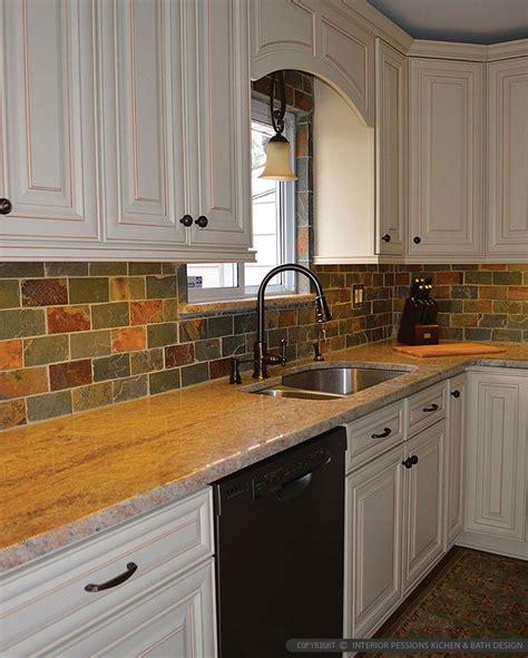 slate tile kitchen backsplash brown gray subway slate backsplash tile backsplash