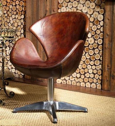 vintage leather armchair ebay vintage leather armchair brown real swivel chair loft club