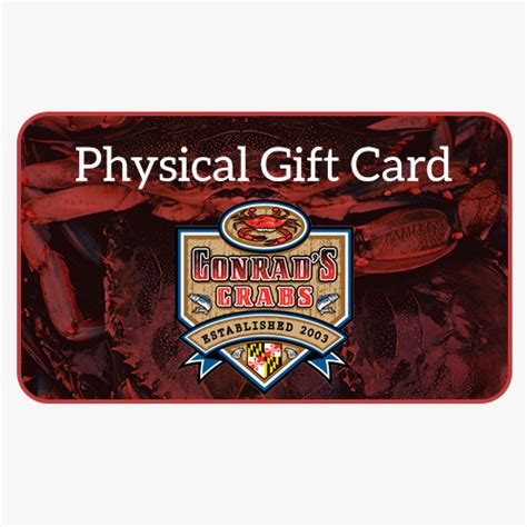 Physical Gift Cards - physical gift card conrad s crabs