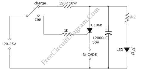 rechargeable battery circuit diagram ni cad battery zapper a rechargeable battery