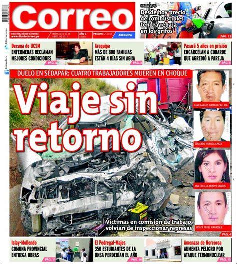 diario el correo noticias de pasco peri 243 dico diario correo arequipa per 250 peri 243 dicos de