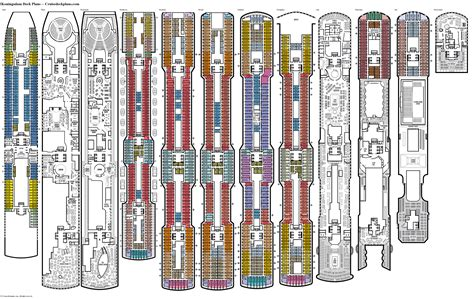 cruise ship floor plans koningsdam deck plans diagrams pictures video