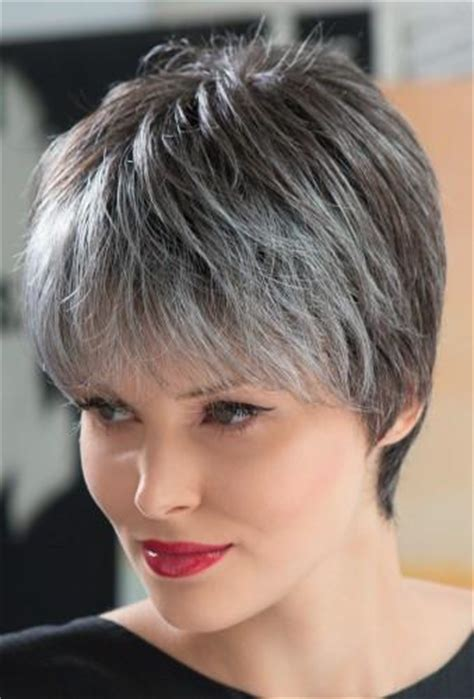 salt and pepper pixie cut human hair wigs short wigs for women over 50 african american short