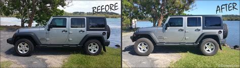 Jeep Lifts Before And After Before And After Pics Of Jeep Wrangler With 2 5 Inch Aev