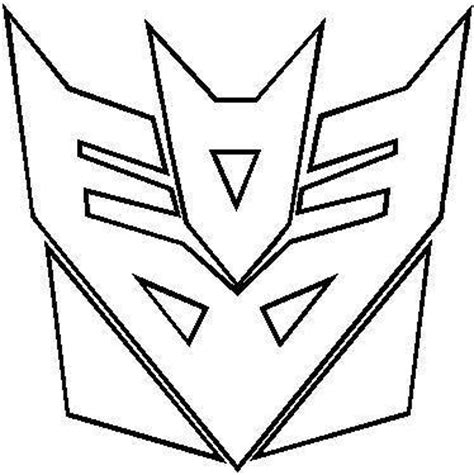 transformers logo coloring pages comic decals and cartoon decals transformers decepticon