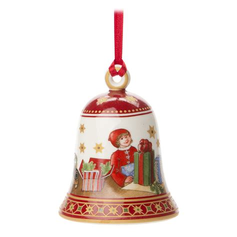 v b christmas bell ornament
