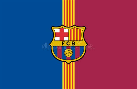 barcelona logo vector fc barcelona logo editorial stock photo illustration of