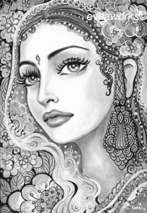 coloring pages for adults india printable adult coloring pages indian women printable