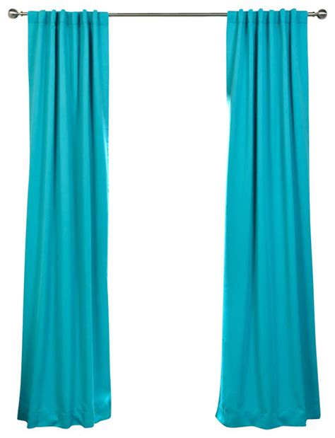 Aqua Blackout Curtains Turquoise Blue Blackout Curtain Traditional Curtains By Half Price Drapes