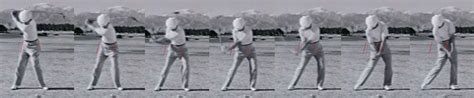 ben hogan swing down the line shoulders position at impact instruction and playing