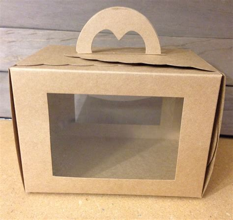 bakery boxes with window brown kraft bakery boxes jilly bean www