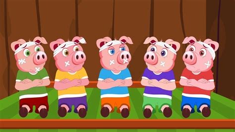 five little piggies jumping on the bed five little piggies nursery rhyme youtube