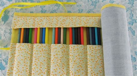 pattern for roll up pencil case roll up pencil case no sew 183 how to make a pens
