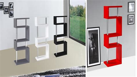 High Gloss Shelf shelf stand 5 tier high gloss white black grey