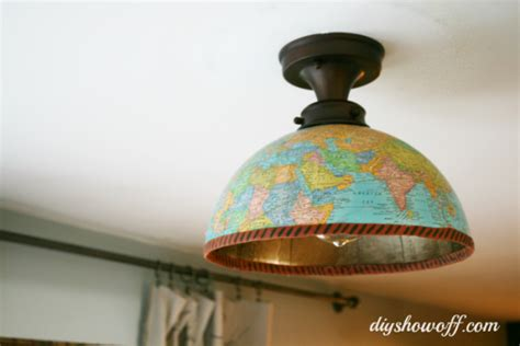 Diy Ceiling Light Cover Diy Lighting Using Just About Anything Rustic Crafts Chic Decor