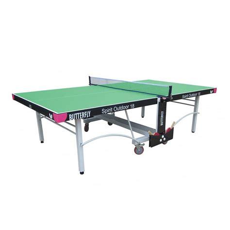 butterfly outdoor rollaway table tennis butterfly spirit 18 rollaway outdoor table tennis table