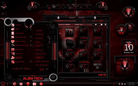 download themes windows 7 horror windows 7 themes red alien tech by newthemes on deviantart
