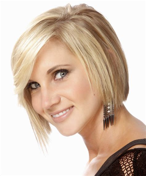 bangs are jagged and blunt medium straight formal bob hairstyle with side swept bangs