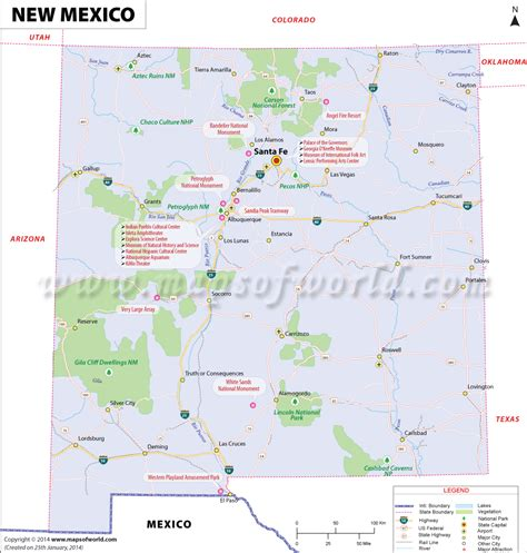 map of mexico showing cities new mexico map showing the major travel attractions