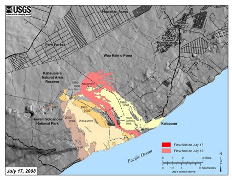 erup map kilauea volcano eruption information