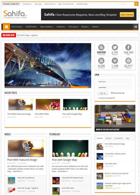 sahifa theme customisation best wordpress magazine themes of 2013 download premium