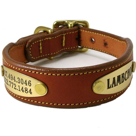 collars with name leather collars with name plate
