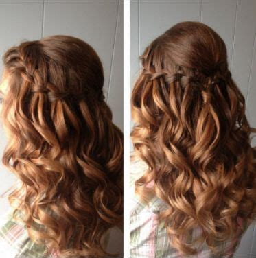 hairstyles for curly hair plaits red hair waterfall curly hair braid plait braided down