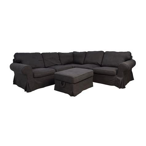 Ektorp Sofa Sectional 39 Ikea Ikea Ektorp Gray Corner Sectional With Ottoman Sofas