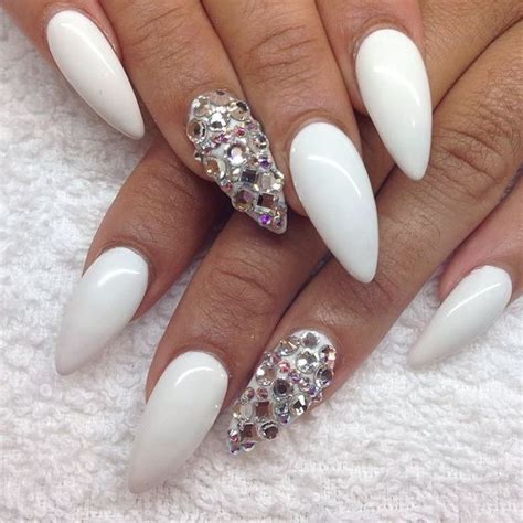 Pretty White top 55 beautiful white acrylic nails