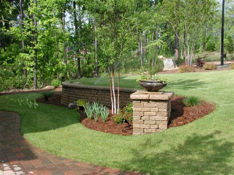Decorative Garden Wall by Hardscapes Portfolio Keeler Landscape