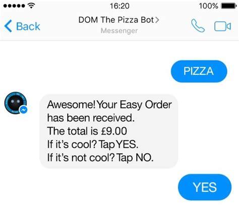 domino pizza facebook domino s pizza facebook bots active marketing