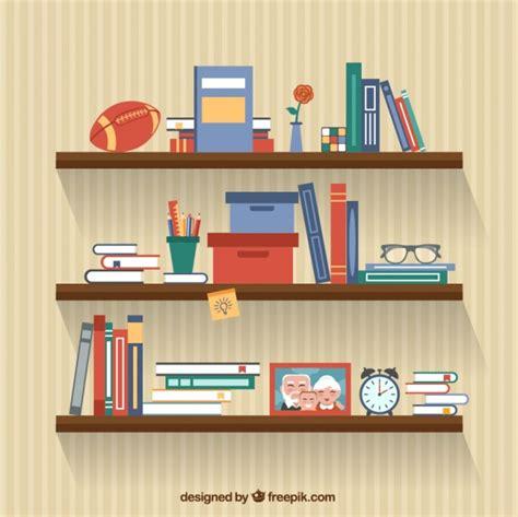 estantes para libros gratis libros en los estantes descargar vectores gratis