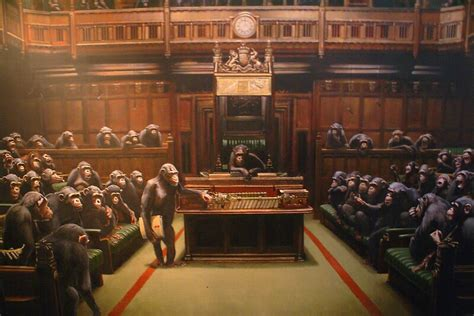 banksy monkey parliament  kiwikiwi redbubble