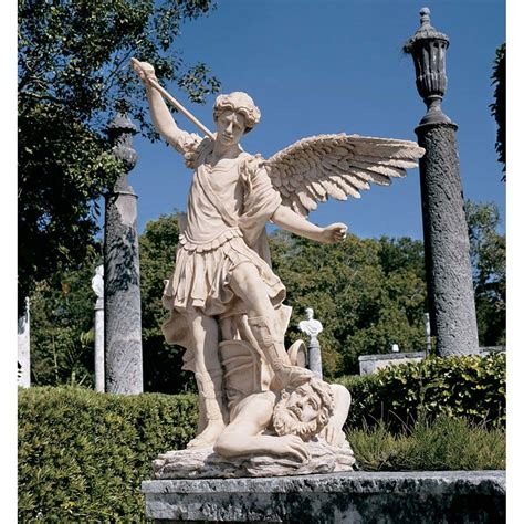 outdoor angel statues garden statue of st michael the archangel by guido reni rome