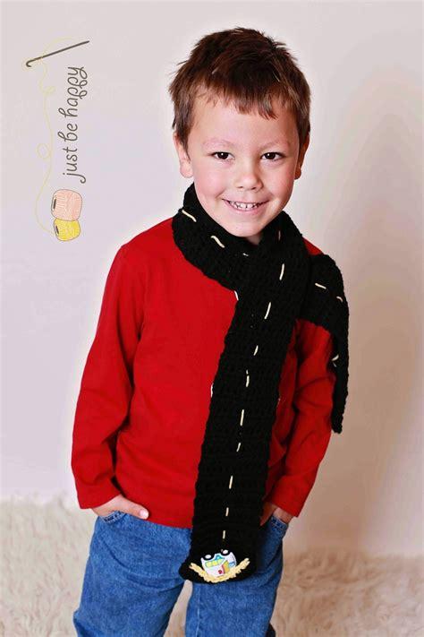 just be happy road scarf free crochet pattern