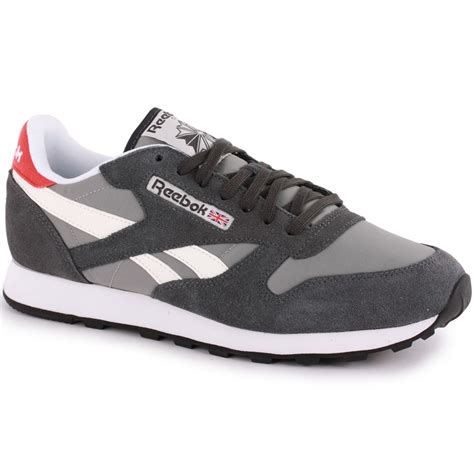 Reebok Bd2854 Grey White 39 reebok classic sport mens trainers in grey white
