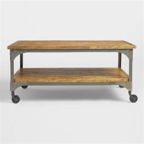 market coffee table wood and metal aiden coffee table market