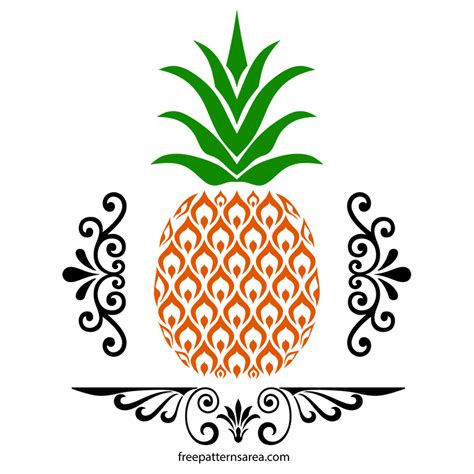 svg pattern gallery free pineapple svg and vector images freepatternsarea