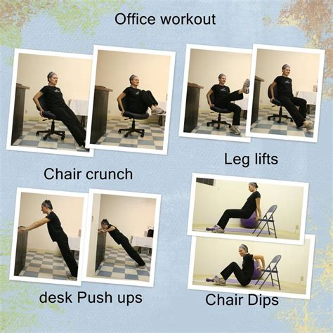 Office Workouts At Desk Ideas For A Workout At Your Desk Whether Your Office Desk Or Home You Can Firm Up And Burn A