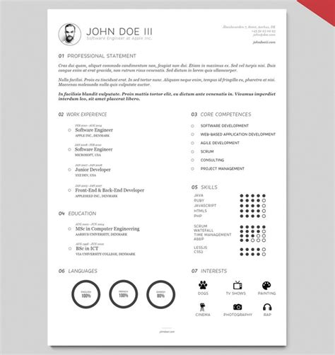 creative resume templates free doc 40 best 2018 s creative resume cv templates printable doc