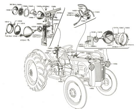 lighting wiring parts  ford  tractors