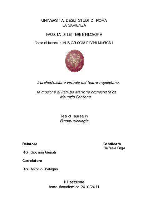 tesi di laurea lettere universita degli studi di roma la sapienza facolta di