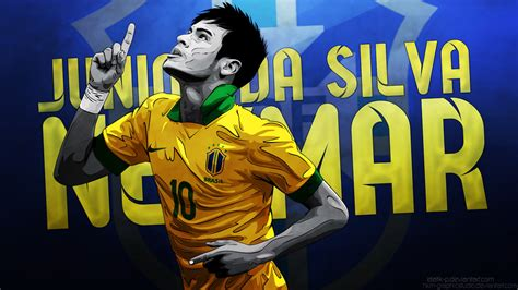 wallpaper neymar cartoon neymar da silva background vector