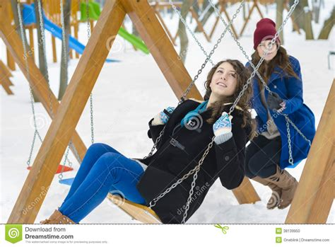 swinging with friends video friends swinging stock photo image 38139950