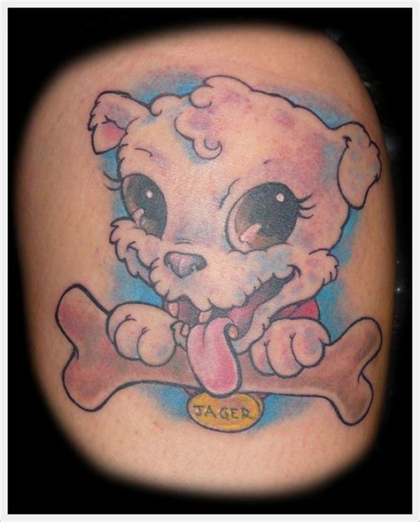 cartoon dog tattoo designs puppy design busbones