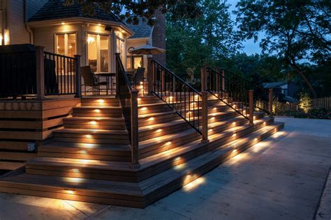 landscape lighting deck lighting ideas to get warm and cozy atmosphere homestylediary