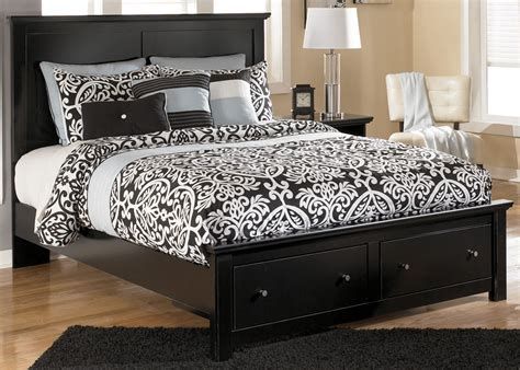 King Bed Frame Wood Wood King Size Bed Frame With Drawers With Solid Black