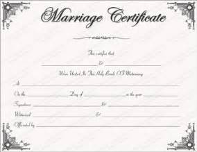 Certificate Of Marriage Template by Free Printable Marriage Certificate Templates Editable